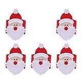 XiZiMi Servilletero de Navidad 5pcs Soporte de hebilla de servilleta para la decoración de la mesa de la cena de la fiesta de Navidad 5pcs
