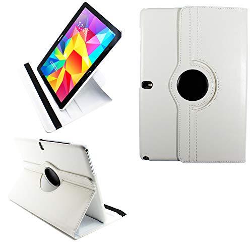 COOVY® 2.0 Cover für Samsung Galaxy Note PRO 12.2 SM-P900 SM-P901 SM-P905 Rotation 360° Smart Hülle Tasche Etui Hülle Schutz Ständer | weiß
