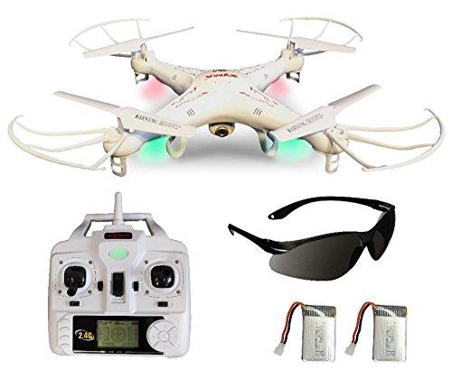 Syma X5C Upgrade Explorer Weiße Deutsche AGETECH GmbH Sonder-Edition, Drohnenführerscheinfrei und nicht Kennzeichnungspflichtig, mit Zusatz Power-Akku und 3.6 MP HD Kamera mit Tonaufzeichnung