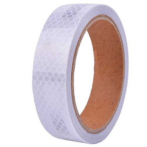 1in x 15ft White Reflective Tape Conspicuity Safety Warnning Tape Adhesive Stickers