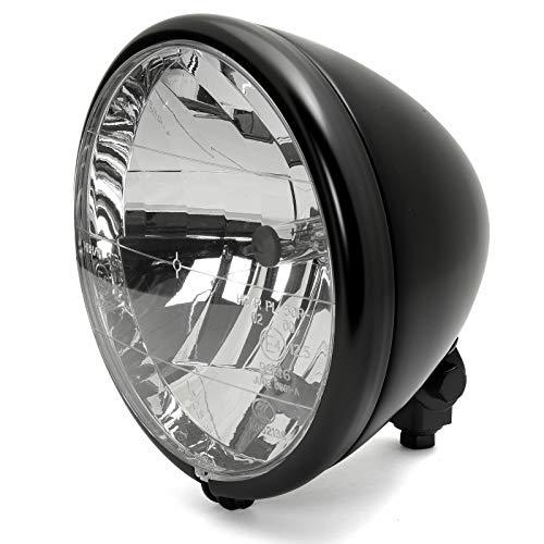 """7\"""" Scheinwerfer Springer Style Schwarz Klarglas für Harley-Davidson Chopper, Custombike"""