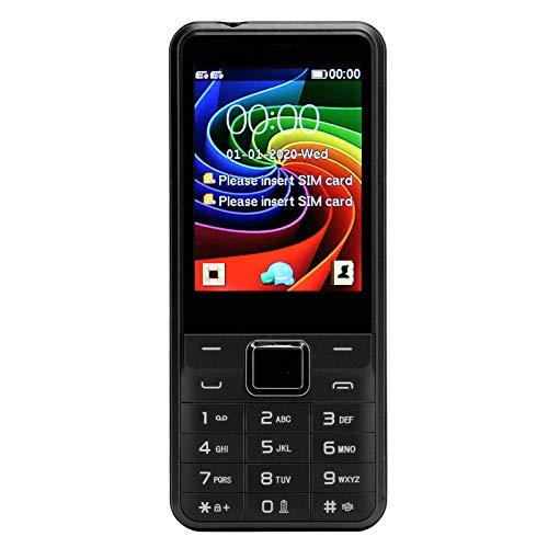 Teléfono móvil para Personas Mayores, Pantalla de 2,8 Pulgadas, 32 MB+32 MB, Volumen Alto, Botones Grandes, teléfono de Doble Tarjeta con Doble Modo de Espera para Personas Mayores, Negro(EU)