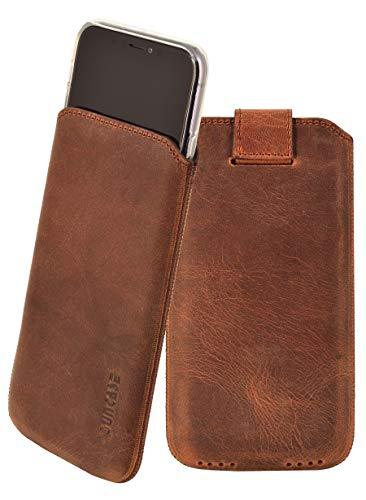 Suncase ECHT Leder Tasche kompatibel mit iPhone 11 (6.1