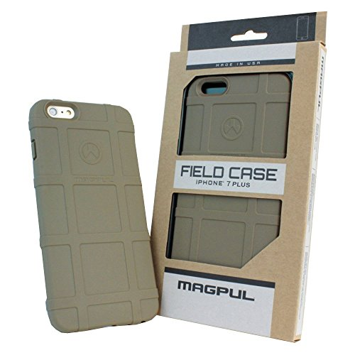 Phone Case Compatible with Apple iPhone 7 Plus / iPhone 8 Plus, with TJS [Tempered Glass Screen Protector] Magpul [Field] MAG849-FDE Polymer Protector Cover Retail Packaging (Flat Dark Earth)