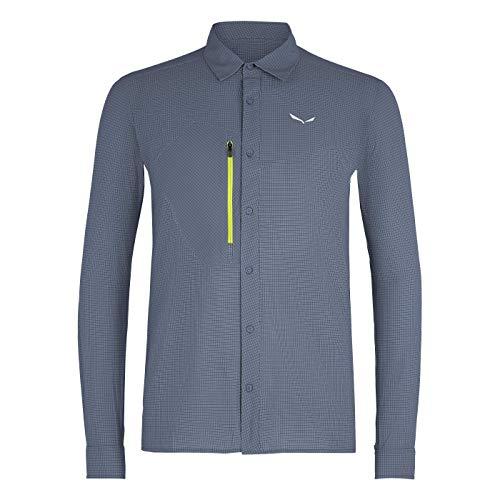 Salewa Puez Minicheck2 Dry M L/S SRT Shirt Homme Flint Stone FR: M (Taille Fabricant: 48/M)