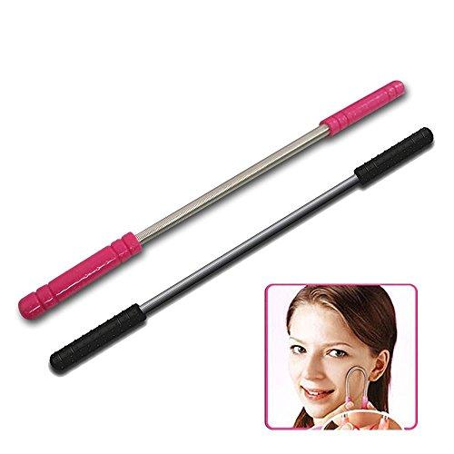 Gesichtshaar Epilierer 2PCS Haarentfernung Pinzette ideal für Haare auf Stirn, Wangen und Kinn entfernen