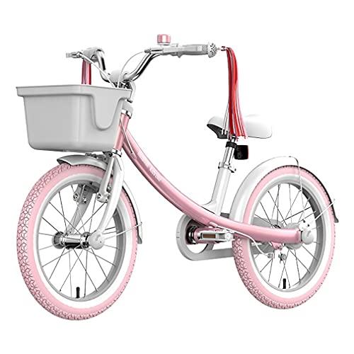16 Pulgadas Bici Infantiles Bicicleta para NiñOs con Ruedas De Entrenamiento Ruedas De Radios NeumáTicos Regulables En Altura Adecuado para NiñOs Y NiñAs De 5 A 8 AñOs