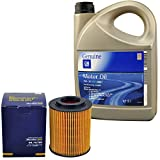 Inspektionspaket SCT Ölfilter 5 Liter Original GM Motoröl 5W30 Dexos 2