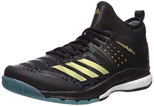adidas Herren Mid Crazyflight X Mittelhoch, Core Black, Gold Met, Icey Blue F17, 38.5 EU