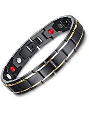 Health bracelet black magnetic titanium steel charm bracelet bracelet for men