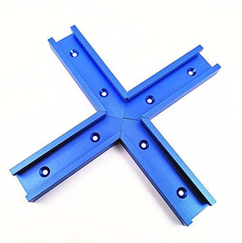 COUYY Conector Cruzado 100mm Tipo A Azul, Conector Cruzado Herramientas de carpintería,Azul,200MM