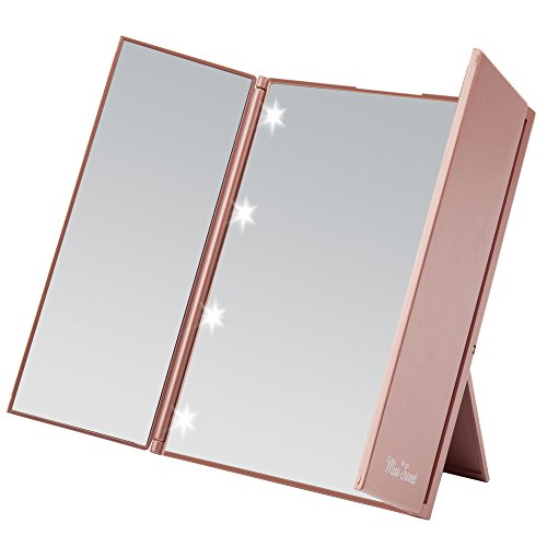 Miss Sweet Lighted Trifold Mirror for Beauty Makeup Travel...