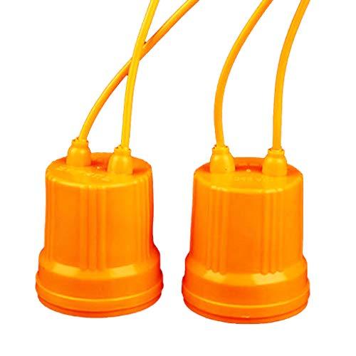 Buwei E27 Soporte de cerámica Impermeable Base Tornillo Bombilla de luz Enchufe de lámpara ignífugo Material Duradero Seguro no Fuga eléctrica