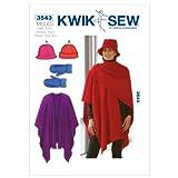 佳柏缝K3543帽子缝制花样,连指手套和围巾