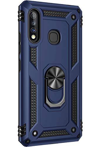 lllteri Handyhülle Kompatibel mit Samsung Galaxy A70e Handyhülle Hybrid Rüstung Dual Layer Silikon TPU Bumper mit 360 Grad Drehbar Ringhalter Protective Cover für Samsung Galaxy A70e Hülle
