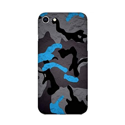 Funda iPhone 6s Plus Carcasa Apple iPhone 6s Plus Militare Mimetica Camuflaje Ejército Militar Gris y azul / Cubierta Imprimir también en los lados / Cover Antideslizante Antideslizante Antiarañazo