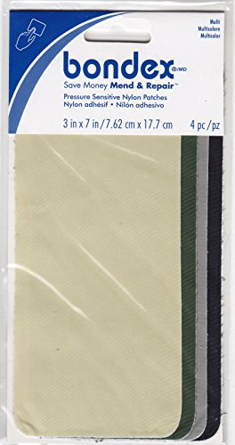 BONDEX PRESSURE SENSITIVE NYLON PATCHES, 3' x 7'-Clothing, Repair, Mend, No Sew