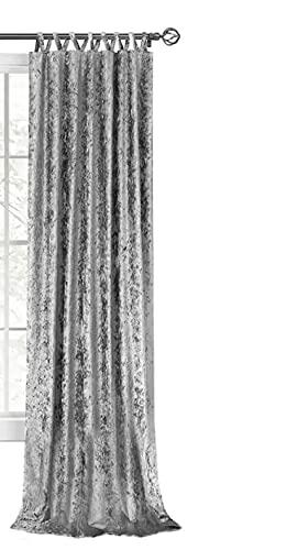 Harper Criss-Cross Window Curtain Panel - 50x84 Grey