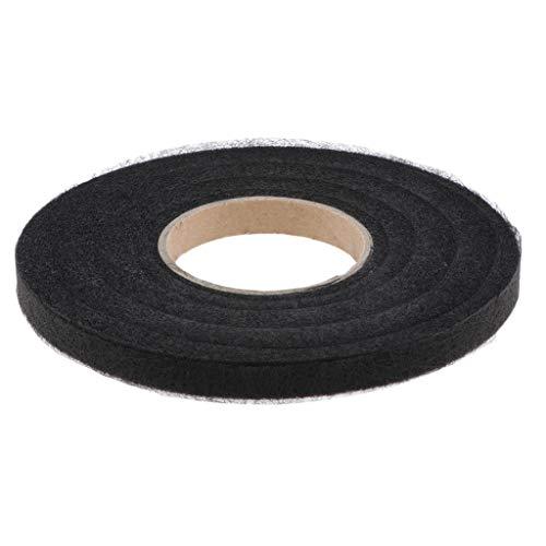 Bonarty Cinta Adhesiva para Dobladillo De 90 Yardas Hierro sobre Tela De Costura Cinta De Fusión Blanco - Negro, 1cm