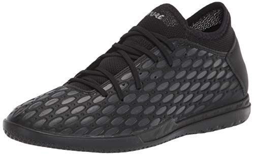 PUMA Men's Future 5.4 Indoor Trainer Soccer-Shoe, Black-Asphalt, 12 M US