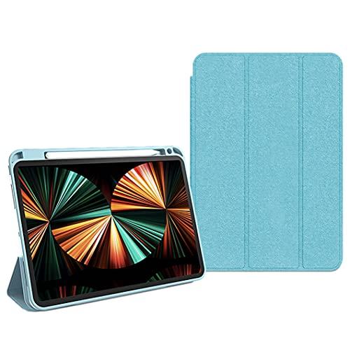 WYZDQ Funda con Soporte para iPad Pro De 11 Pulgadas 2021 con Portalápices, Funda Inteligente con Soporte Triple Y Cubierta Trasera De TPU Suave, Activación/Suspensión Automática,Light Blue