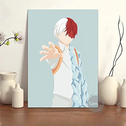 Kingkoil Toile Anime Todoroki Shoto My Hero Academia Photos Home Décoration Peintures Poster Hd Imprions Art Mur Art Salon Modulaire 34 60x90cm Noframed
