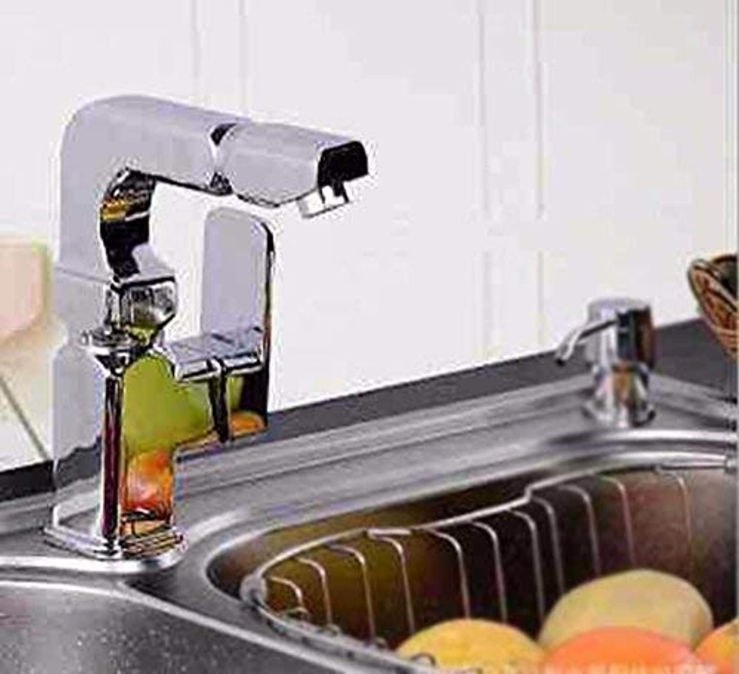 Oudan Hot And Cold Wash Basin Bathroom Single Handle Single Hole Stainless Steel Sink Faucet