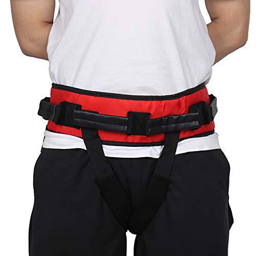 HNYG Gait Belt with Handles and Leg Loops, Medical Nursing Safety Transfer Belt for Ambulation, Standing Aids, Durable Elderly Transfer HYB263 (Red)