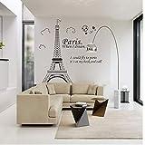 Oulensy Engomadas de la Pared cotización - 1 Pieza de la Torre Eiffel de Etiquetas de Presupuestos de la Etiqueta del Vinilo del Arte Cartel Inicio Sala de Etiqueta de la Pared Decoración