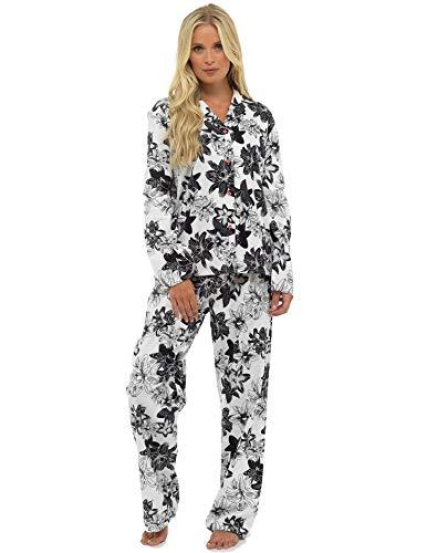 CityComfort Ladies Comfy Pijamas Mujeres Soft Fleece Lounge Wear | Bordado con Manga Larga | Presente Mujeres