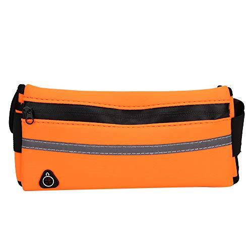 wosume 2 Farben Handy Aufbewahrungstasche, Feste, haltbare Taillentasche, für Outdoor Sports Night Run(Orange)