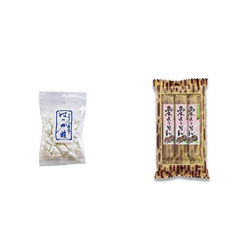 [2点セット] シルクはっか糖(150g)・スティックようかん[栗](50g×3本)