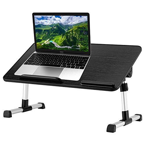 Laptop-Schreibtisch für Bett, LITEPRO verstellbarer Laptop-Betablett, tragbarer Stehtisch mit USB-Lüfter & klappbaren Beinen, Notebook-Computer-Ständer zum Lesen Schreiben auf Couch, Sofa, Boden