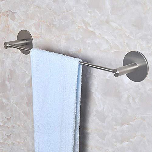 ADSE Barra de Toalla sólida Perforación Libre 304 Toallero de Acero Inoxidable Perchero Toallero Toalla de baño Colgante de Tiro único (Tamaño: 50 cm)