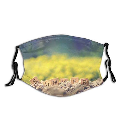 N/D Summer Letter Cube On Soil Reusable Cotton Dust Proof Unisex Mouth Masks Fashion Washable Masks, Print Pattern Cloth Balaclava Outdoor.