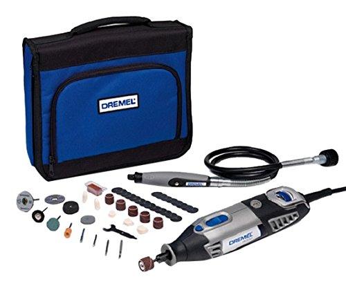 Dremel 4000 - Multiherramienta, 175 W, kit con 1 complemento, 45 accesorios, velocidad variable 5.000 - 35.000 rpm para tallar, grabar, fresar, amolar, limpiar, pulir, cortar y lijar