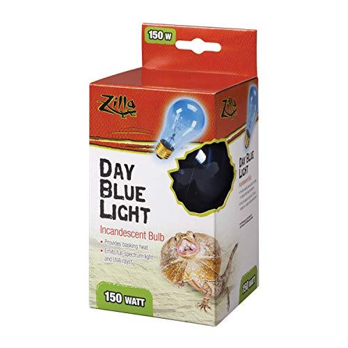Price comparison product image Zilla Reptile Terrarium Heat Lamps Incandescent Bulb,  Day Blue,  50W