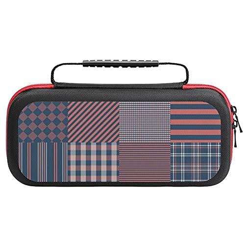 Nantucket Picknickdecke Miacomet und Faraway personalisierte Tragetasche für Nintendo Switch, kompatibel & schützend & stoßfest Hartschale Aufbewahrungstasche