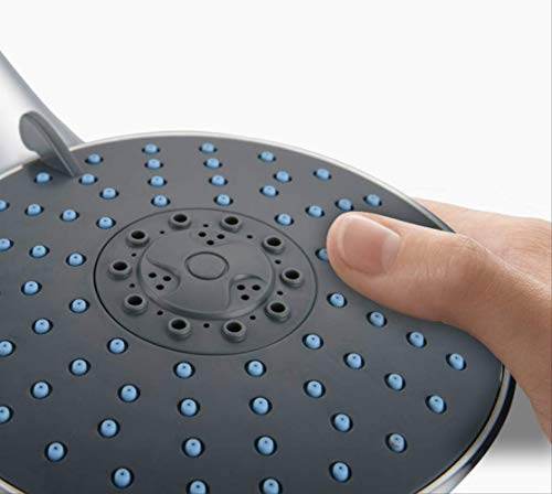 7-functionele handdouche met compressor, waterbesparend, regendouche met groot sproeioppervlak, sterke watermassage, douchekop, galvanisatiebescherming, slijtvast, hoge temperatuur, eenvoudig te installeren.