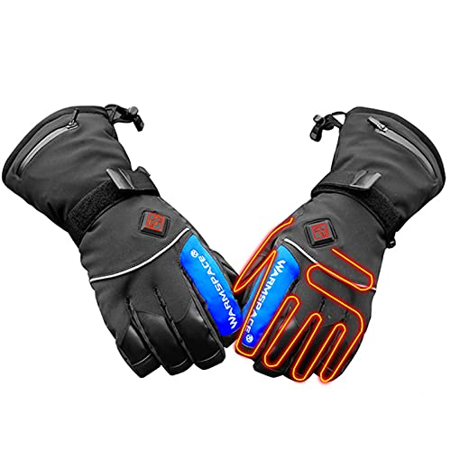 QMJHHW Winter Rechargeable Electric Heated Gloves Men Women Battery Powered 3 Heating Levels Adjustable Touchscreen Thermal Gloves for Winter Sports Outdoors