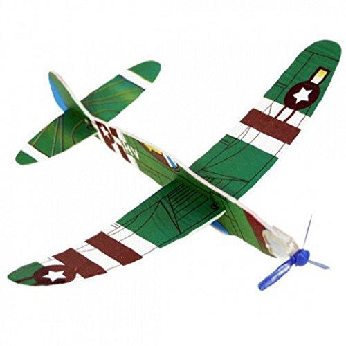 Schramm® 12er Pack Styroporflieger Styropor - Flieger Verschiedene Motive Flieger Flugzeug