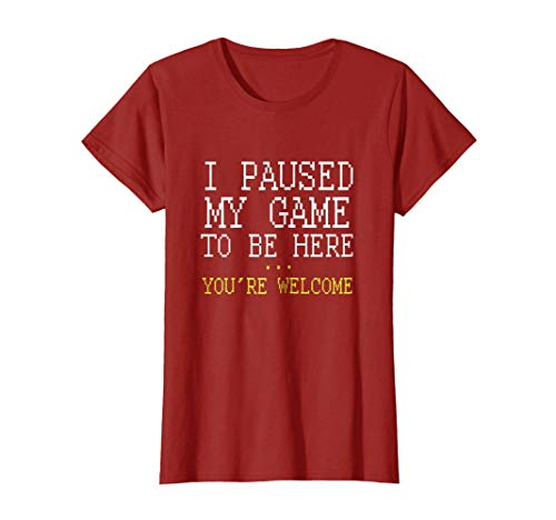 I Paused My Game You're Welcome Funny Geek Gamer T-Shirt