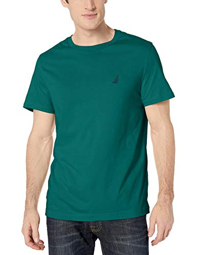 Nautica Men's Short Sleeve Solid Crew Neck T-Shirt, Tidal Green, X-Large
