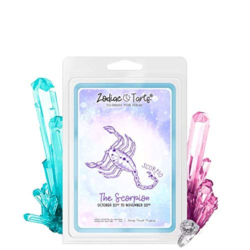 Scorpio | Zodiac Star Signs Jewelry Wax Melt | Ring Tart | Jewel Valued at $15 - $7,500 | 21oz Jar Soy Wax | Ring (Size 10) | Bahama Mama