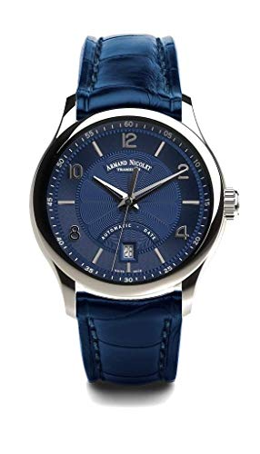 Armand Nicolet M02-4 - Orologio automatico con cinturino in pelle blu...