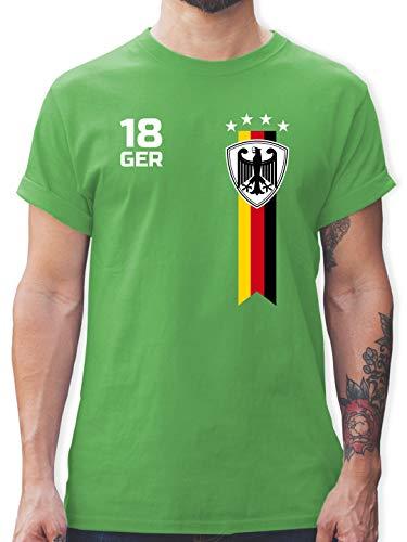 Fussball EM 2021 Fanartikel - EM Fan-Shirt Deutschland - XXL - Grün - wm Shirt Herren 2018 - L190 - Tshirt Herren und Männer T-Shirts
