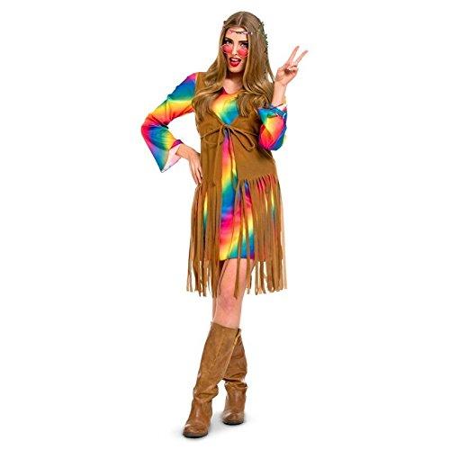 Folat - Los Arco Iris Hippie Disfraz para Mujer - Multicolor - Talla:L-XL