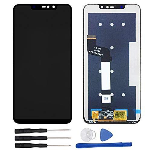 soliocial Asamblea Pantalla LCD Pantalla Táctil Vidrio para Xiaomi Redmi Note 6 Pro/Redmi Note 6pro Negro