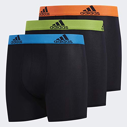adidas Youth Kids-Boy's Performance Boxer Briefs Underwear (3-Pack), Collegiate Royal/Collegiate Navy Onix/Collegiate N