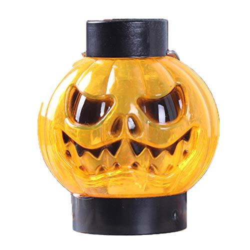 Dosige Grimasse Kürbis Laterne Handgehalten für Halloween Deko Kürbis Herbstdeko Windlicht Deko-Kürbis